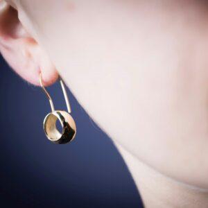 Bijoux piece unique Paris boucles d'oreilles or recyclé et éco responsable