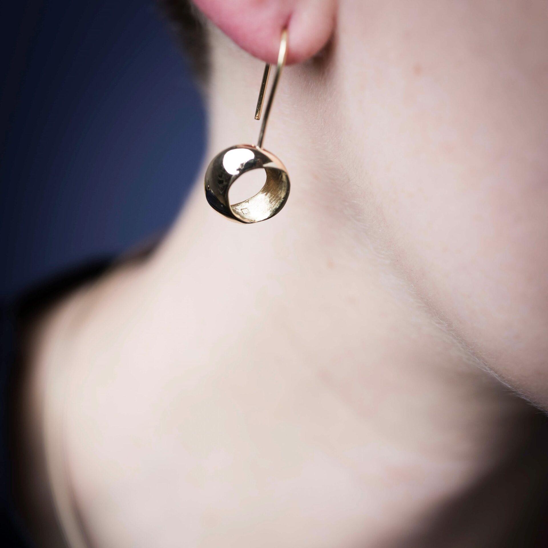 ECLIPSE OR ET ARGENT boucles d'oreilles recycle eco responsable designer artisan paris vincennes