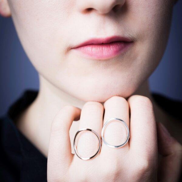 Eros or rose et or gris recyclé designer bijoux artisan made in france or équitable