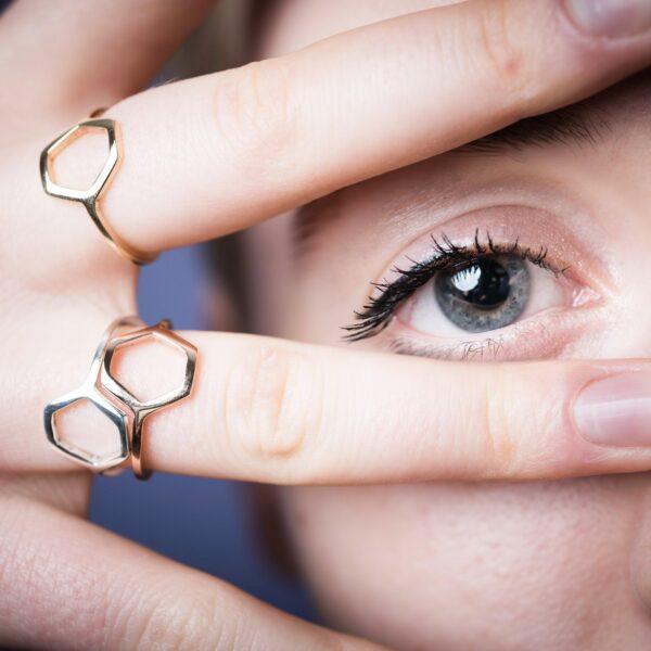 EXA bague or et argent recycle made in france designer bijoux paris