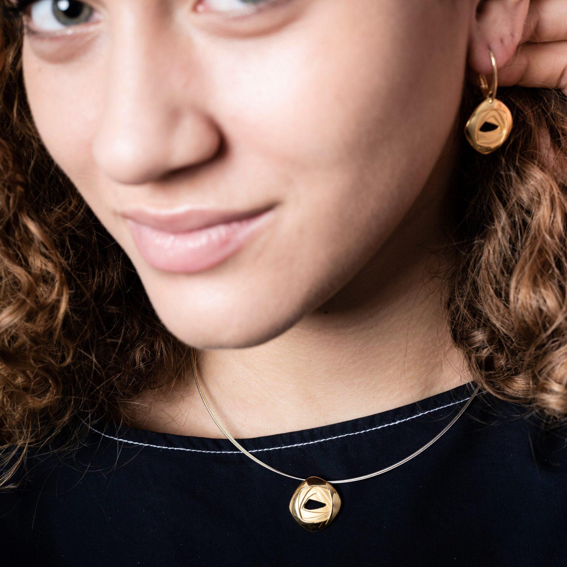 Boucles d'oreilles Candide Or recyclé paris