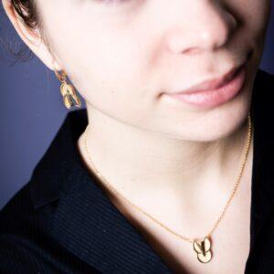 bijou pendentif or recyclé Gatsby